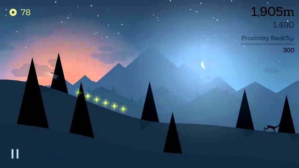 alto's adventure night mode gameplay