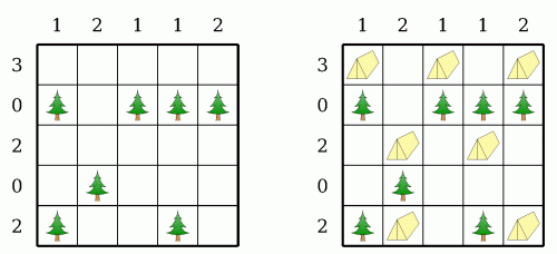 trees and tent puzzle offline puzzle games