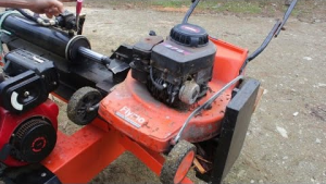 How to make a log splitter from a lawnmower engine