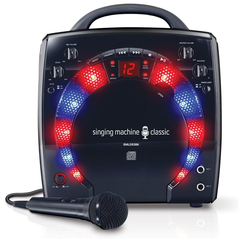 Singing Machine SML283BK- Karaoke Machines With Disco Lights