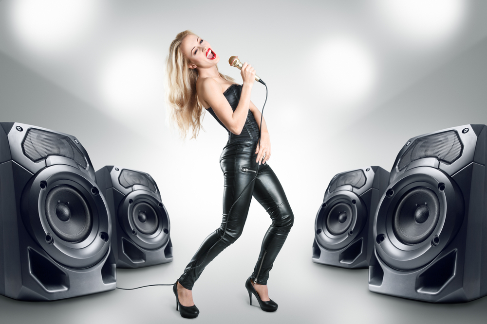 how to connect karaoke with speakers
